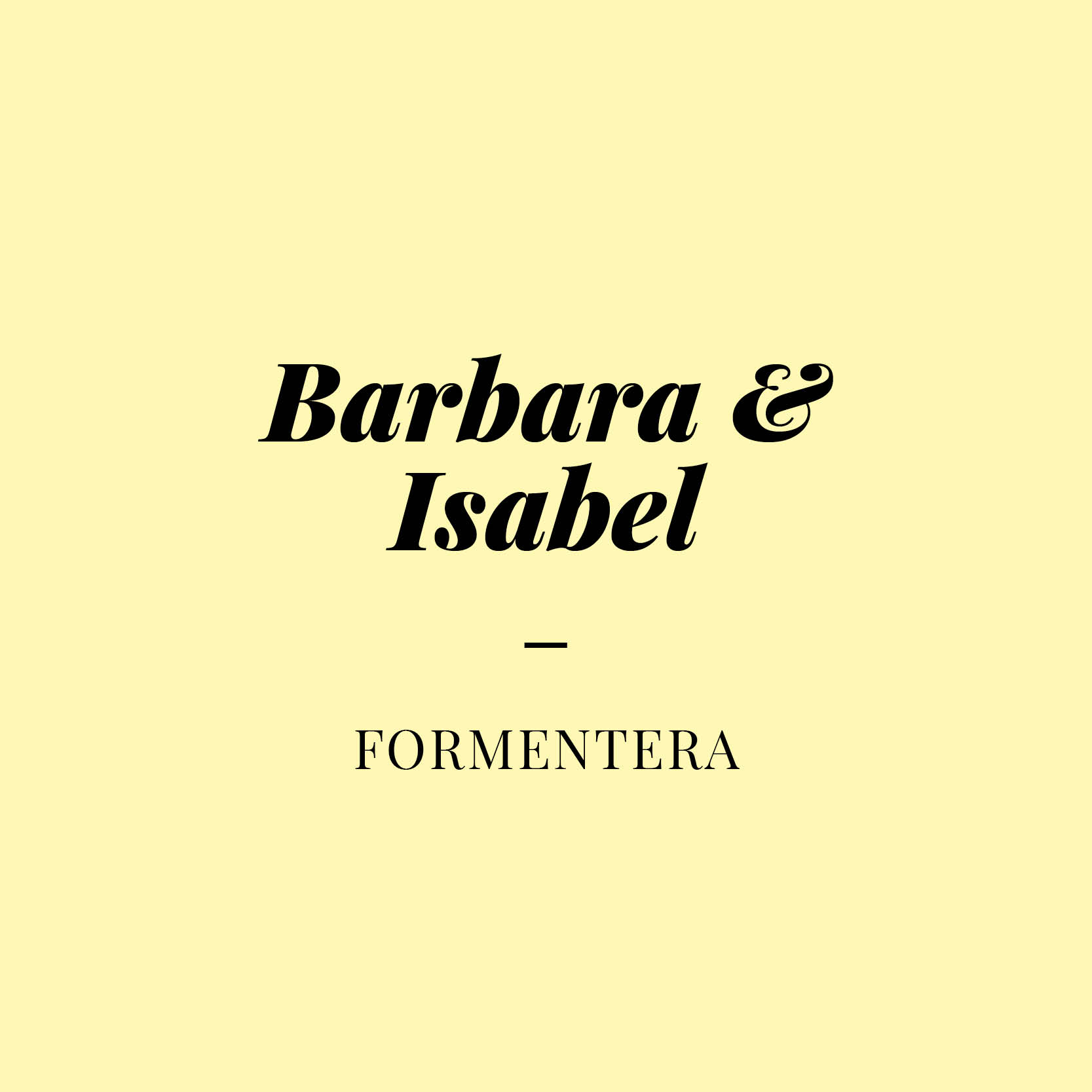 Barbara & Isabel<span></span>